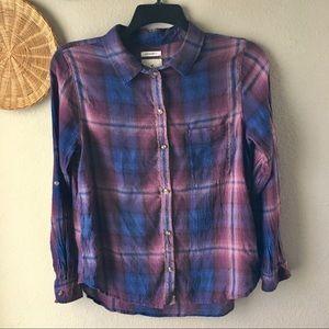 American Eagle Boyfriend Fit Plaid Shirt Large